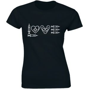 Half It Tops - Love Injections Funny Nursing Injection T-shirt